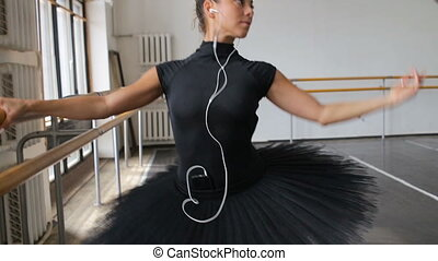 ballerine, smartphone, grand, pratiques, music-hall, écoute