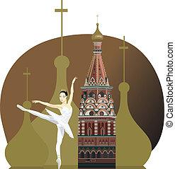 ballerine, tour, kremlin