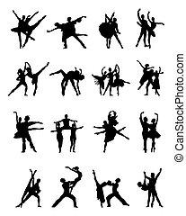ballerines, silhouettes