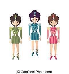ballerines, trois