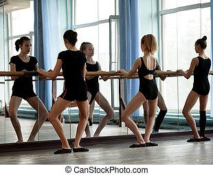 ballerini balletto, scaldata