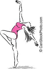 ballerino, 2, illustrazione