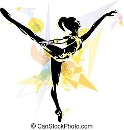 ballerino balletto, illustrazione