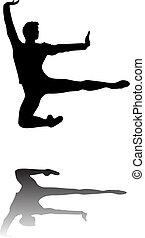 ballerino balletto, libero, fluente