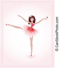 ballerino, disegno, tuo, carino