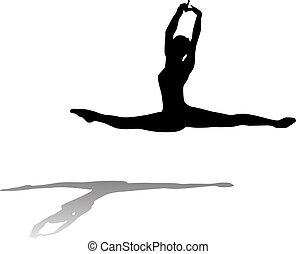 ballerino, libero, fluente, balletto