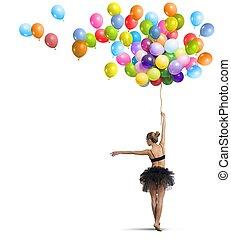 ballerino, palloni