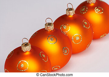 balles, arbre, -, quatre, weihnachtskugeln, vier, noël