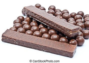 balles, chocolat