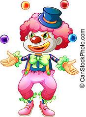 balles,  clown, elle