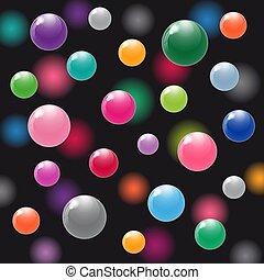 balles, coloré, air.