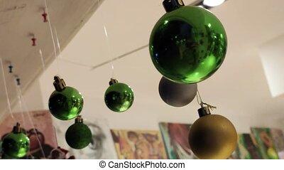 balles, décoration noël, 2