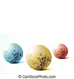 balles, disco, miroir