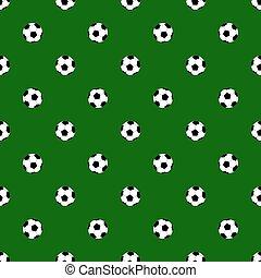 balles, modèle, seamless, arrière-plan., vecteur, vert, football