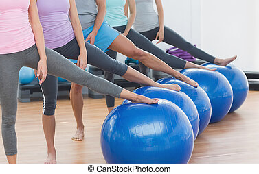 balles, section, studio, bas, classe aptitude, exercice