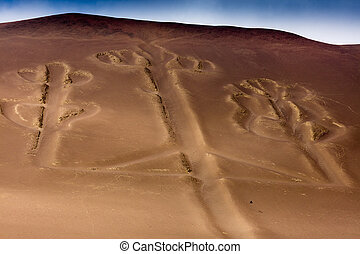 Ballestas Candelabrum Mark - Ancient large-scale geoglyph...