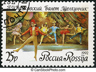 "ballet, 1992:, russie, -, nutckracker"", spectacles, scène, ""the"