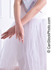 Ballet arm close-up
