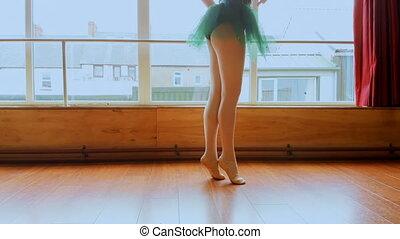 ballet, ballerine, pratiquer, 4k, studio danse