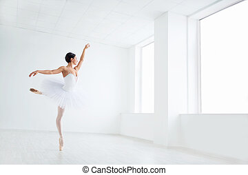 Ballet - Beautiful young ballerina in pointe