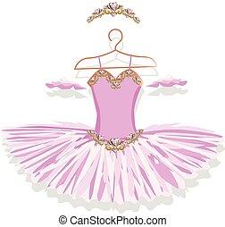 ballet, cintre, tutu