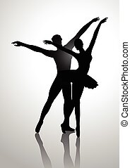 Ballet Couples Silhouette