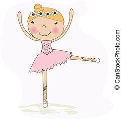 ballet, détail, isolé, pieds, dancer's, blanc
