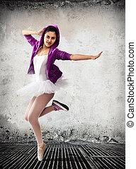 Ballet dancer, ballet concept of classic and modern.
