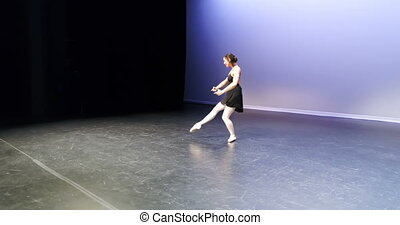 Ballet dancer dancing on stage 4k - Beautiful ballet dancer...