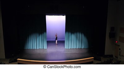 Ballet dancer dancing on stage 4k - Beautiful ballet dancer...