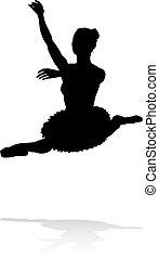 Ballet Dancer Dancing Silhouette