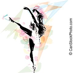 Ballet Dancer illustration