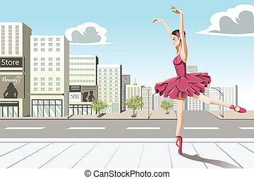 Ballet dancer in the city