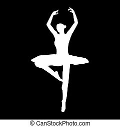 Ballet dancer   it is the white color icon .