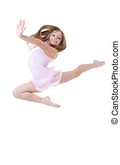 ballet dancer leap - child ballet dancer leap or dance