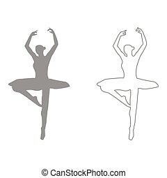 Ballet dancer  set  icon .