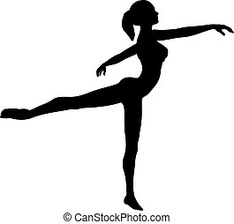 Ballet dancer - Silhouette of a ballet dancer