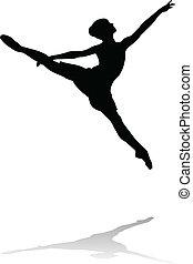 ballet dancer silhouette vector illustration