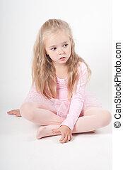 Ballet dancer sitting