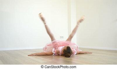 Ballet Dancer Stretching Legs - Little Ballet Dancer...