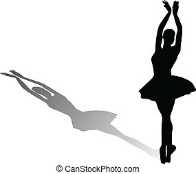 ballet dancer vector illustration