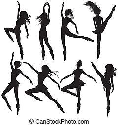 ballet-dancers, körvonal