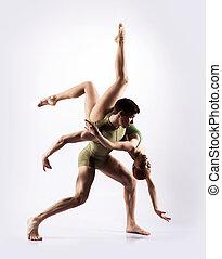 Ballet dancers performing