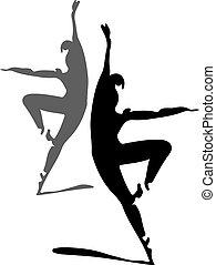ballet dancers silhouette 1
