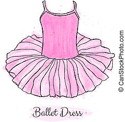 ballet, danse, dress., tutu, rose, ballerine, performance