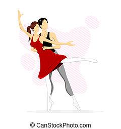 ballet, dansend koppel