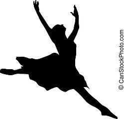 ballet danser, silhouette