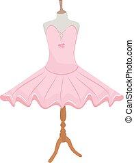 Ballet dress on mannequin - Vector illustration pink ballet ...