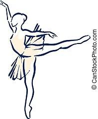ballet female - A girl performing a expressive ballet dance...