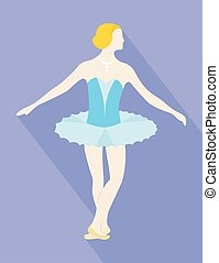 ballet, femme